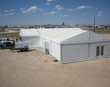 Large, Medium, & Small Clear Span Tents