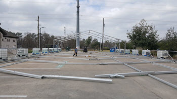 clearspan tent installations