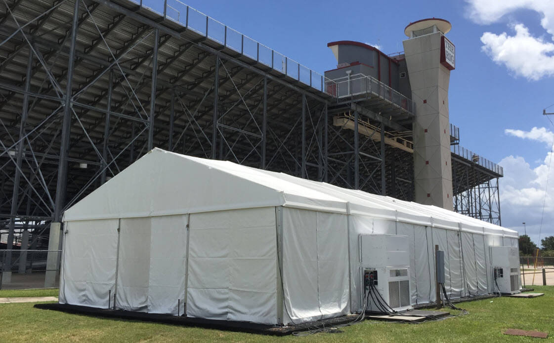 client control tents with hvac systems