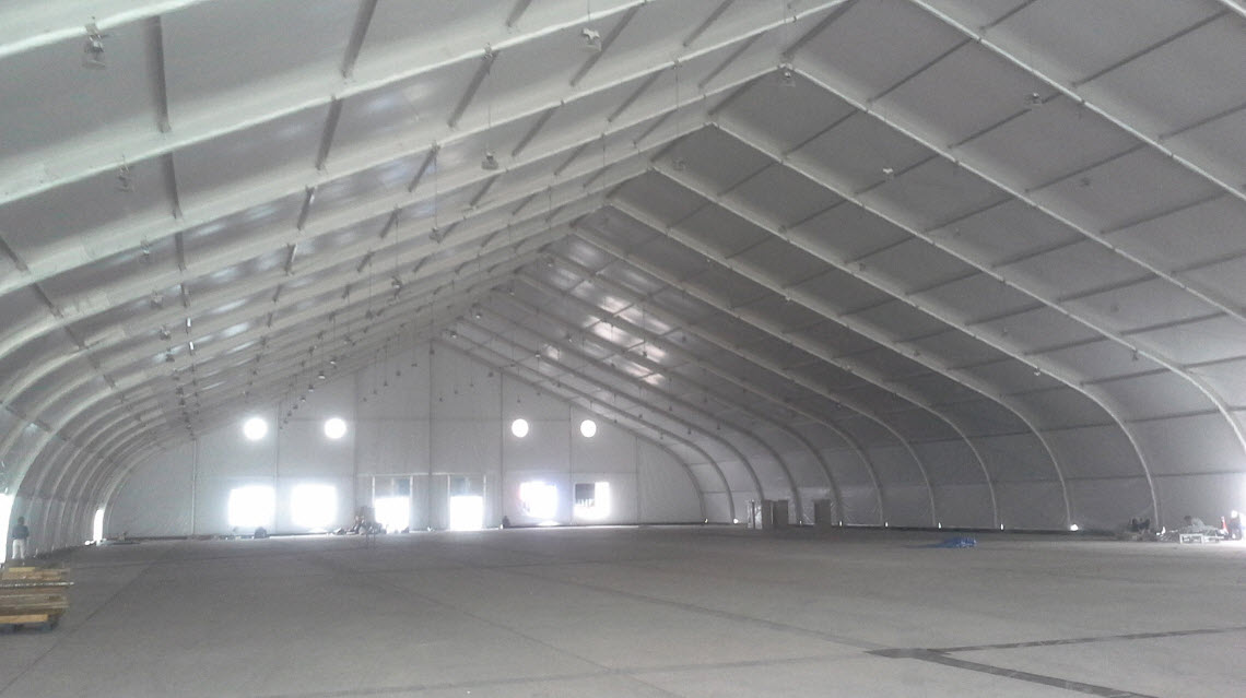 curved beam tents for rent